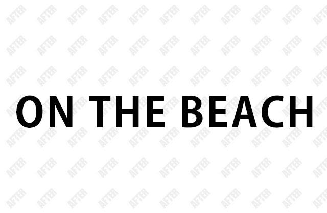 オンザビーチ